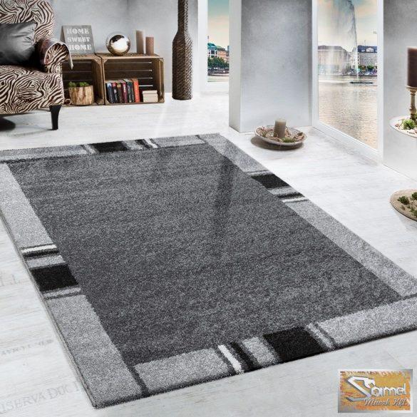 Terracotta szőnyeg, keretmintás, szürke-fekete