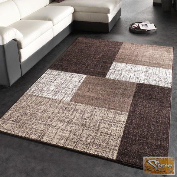 Design szőnyeg, rövid bolyhos, barna-krém