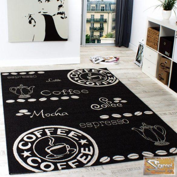 Szőnyeg modern mintás, fekete-fehér