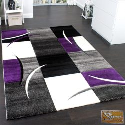 Designer szőnyeg, kontúrokkal, lila-fekete-szürke