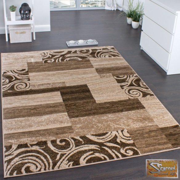 Designer szőnyeg barna-bézs mintával