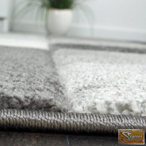 Négyzet mintás szőnyeg, szürke-fehér
