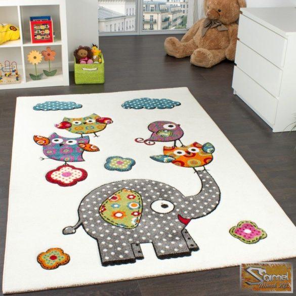 Gyerekszőnyeg elefántos, krém 02
