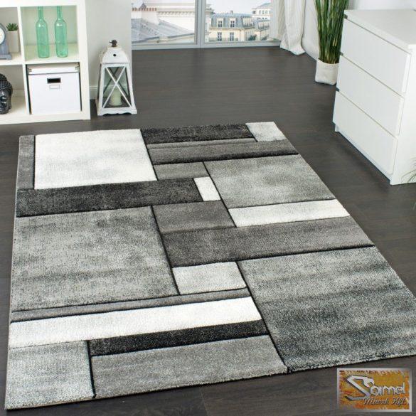 Négyzet mintás szőnyeg, szürke