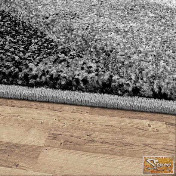 Designer szőnyeg harántcsíkos, szürke-fekete-krém