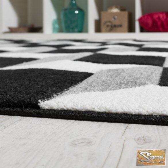 Kockás szőnyeg, szürke-krém