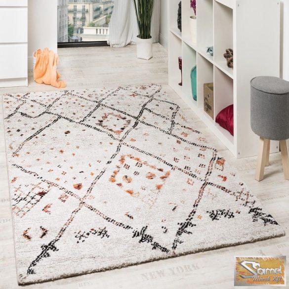 Nomád mintás szőnyeg, krém-narancs