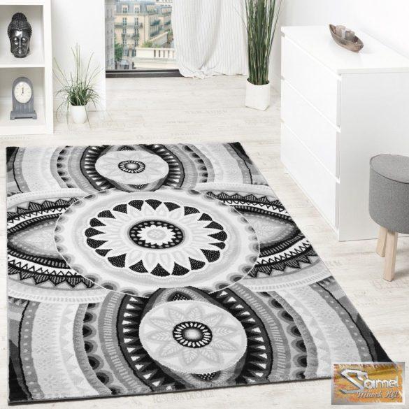 Keleti mintás szőnyeg, szürke-fehér