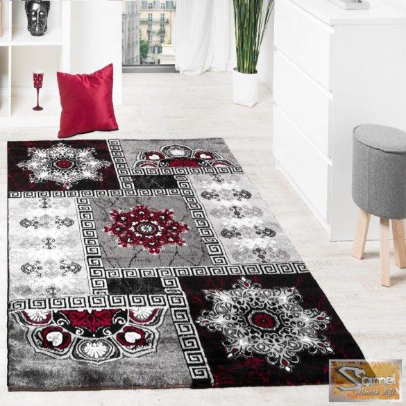 Klasszikus keleti mintájú szőnyeg, piros-szürke