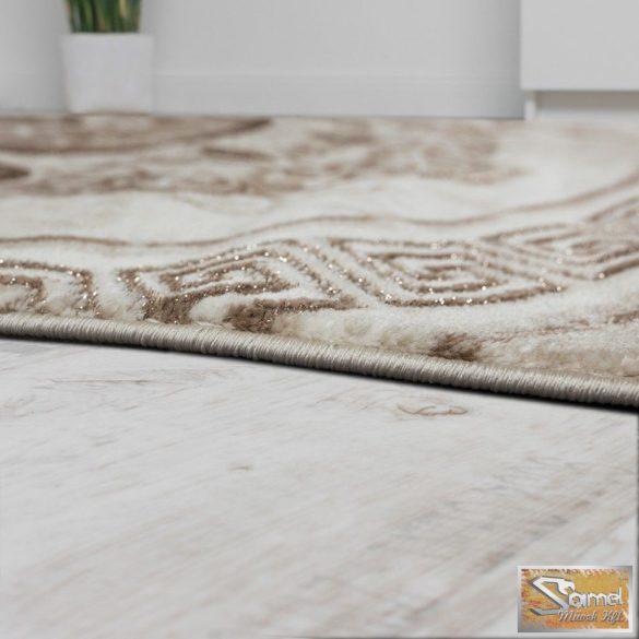 Keleti mintás, körös szőnyeg, barna-bézs