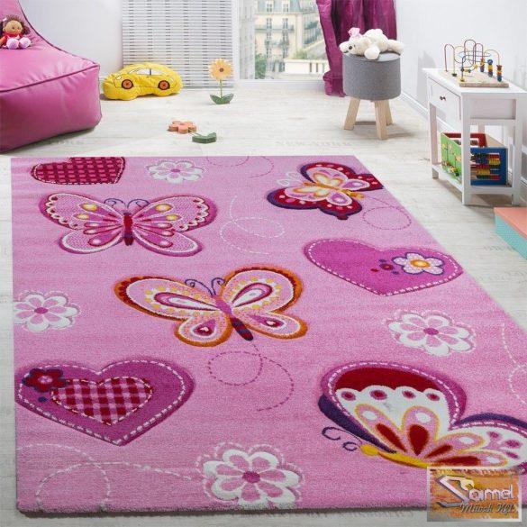 Gyerekszőnyeg pillangós, rózsaszín