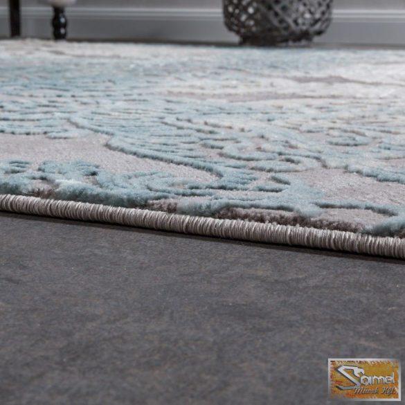 Designer szőnyeg díszes mintával, szürke-kék