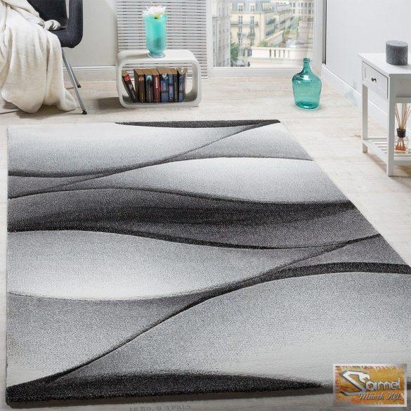 Designer szőnyeg absztrakt hullámokkal, szürke