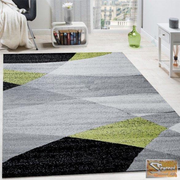 Shaggy szőnyeg kontúrokkal, rövid bolyhos, zöld