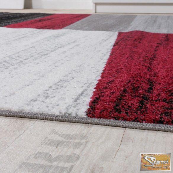 Designer szőnyeg harántcsíkos, piros