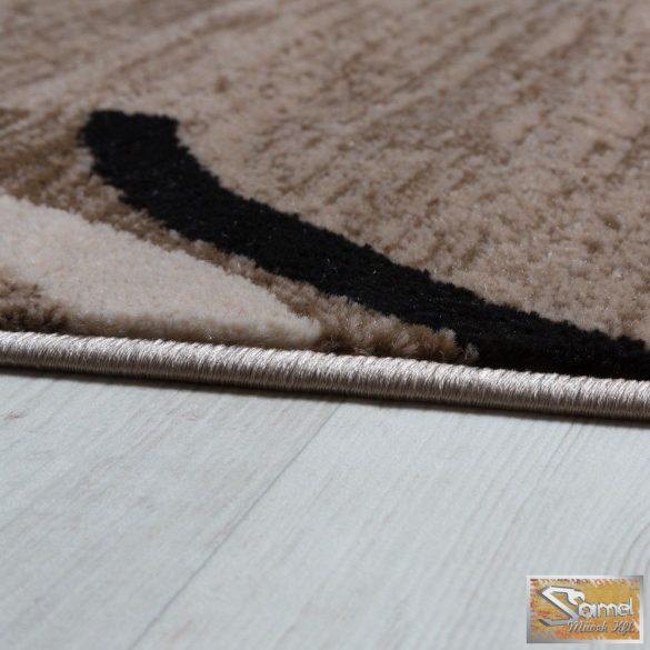 Modern szőnyeg keretmintás, fekete-barna