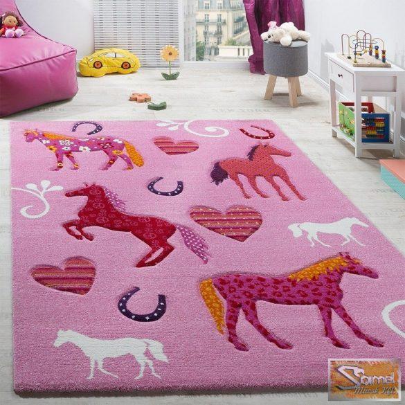 Gyerekszőnyeg lovas, rózsaszín