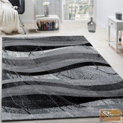 Designer szőnyeg hullámokkal, szürke-fekete-antracit