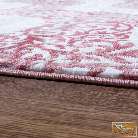 Szőnyeg hullámokkal, rózsaszín-krém