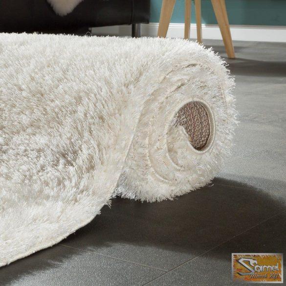 Shaggy szőnyeg hosszú bolyhos, fényes krémfehér