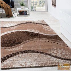 Keleti mintás szőnyeg, hullámokkal, bézs-krém