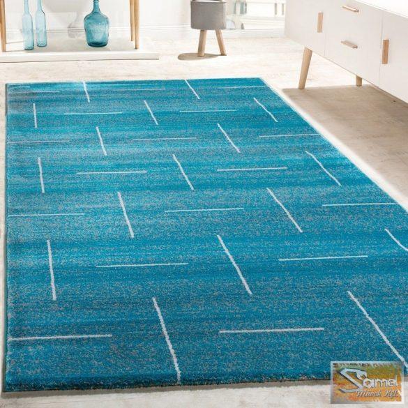 Designer szőnyeg türkiz-szürke, fehér csíkokkal