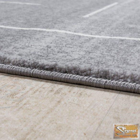Designer szőnyeg szürke fehér csíkokkal