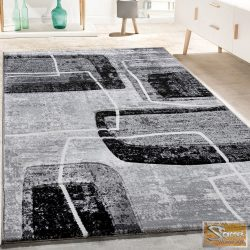 Retro mintás szőnyeg, fekete-fehér