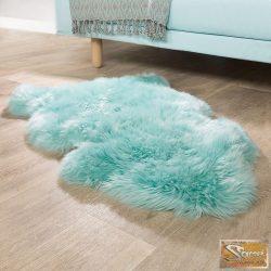 Báránybőr szőnyeg, türkiz