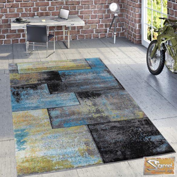 """Szőnyeg """"olajfestmény"""" nagy négyzetes, kék-sárga"""