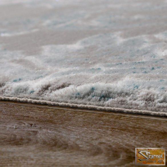 Designer szőnyeg barokk mintás, szürke-türkiz