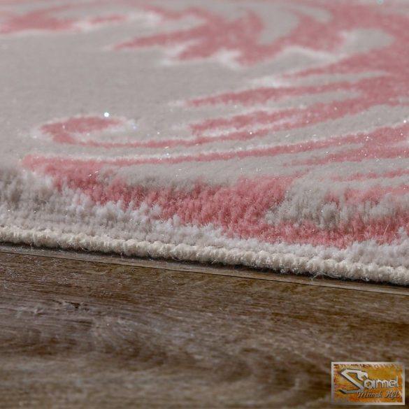 Barokk mintás szőnyeg, szürke-rózsaszín