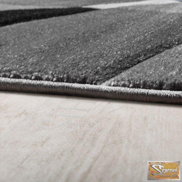Designer szőnyeg geometriai mintás, szürke-fekete-fehér