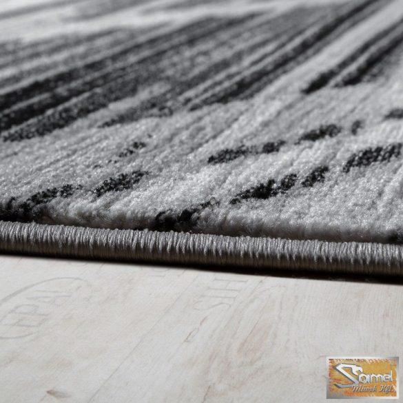 Hullámmintás szőnyeg, fekete-szürke