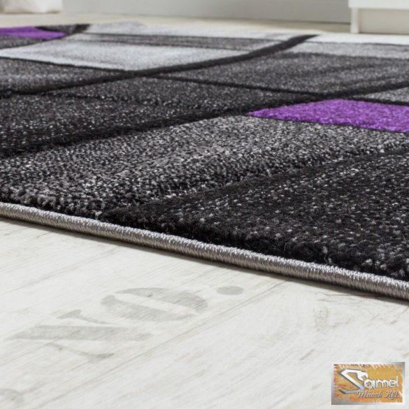 Designer szőnyeg kontúrvonalakkal, szürke-lila
