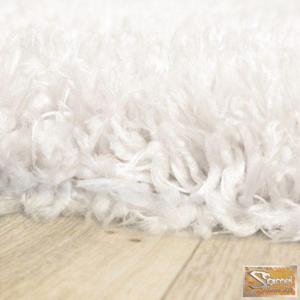 Szőnyeg mesterséges szőrme, hosszú bolyhos, fehér