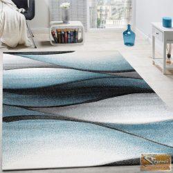 Designer szőnyeg hullámokkal, szürke-türkiz