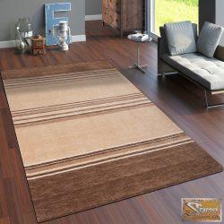 100% pamut szőnyeg, barna, csíkos