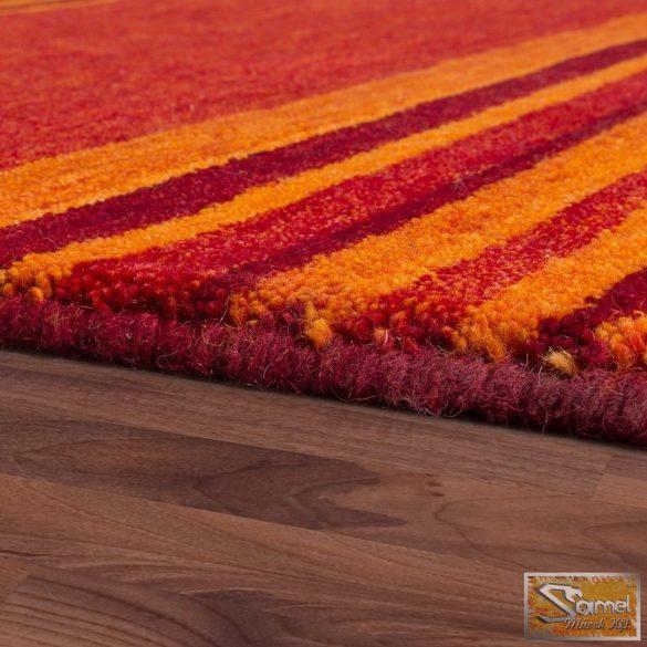 100% gyapjú szőnyeg, csíkos, terrakotta