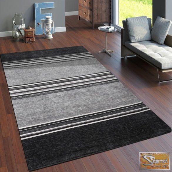 100% gyapjú szőnyeg csíkos, szürke