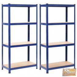 VID 2 db kék acél és mdf tárolópolc 80 x 40 x 180 cm