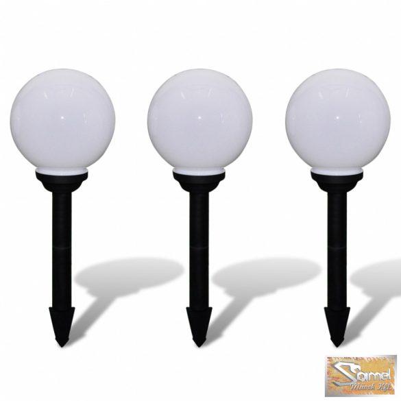 Vid napelemes gömb led kültéri lámpa 20cm 3 db