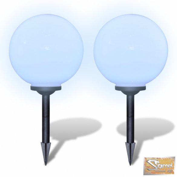Vid napelemes gömb led kültéri lámpa 30 cm 2 db