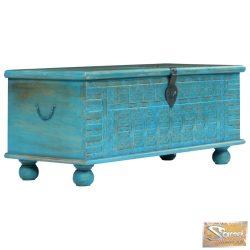 VID kék színű tömör mangófa tárolóláda 100 x 40 x 41 cm
