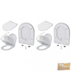 VID 2 db fehér műanyag wc ülőke lassan csukódó fedéllel