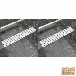 VID 2 db lineáris rozsdamentes acél vonal zuhany lefolyó 630x140 mm