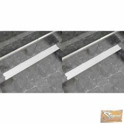 VID 2 db lineáris acél buborék zuhany lefolyó 1030 x 140 mm
