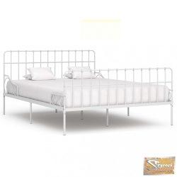 VID fehér fém ágykeret lécezett ágyráccsal 200 x 200 cm