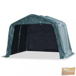 VID sötétzöld elmozdítható pvc állattartó sátor 550 g/m² 3,3x3,2 m