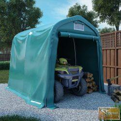VID zöld pvc sátorgarázs 2,4 x 2,4 m